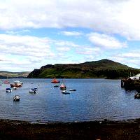 The Harbor of Portree, Skye.