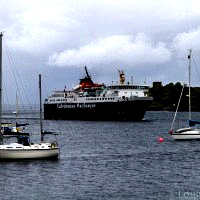 The Mull ferry coming into the harbour