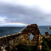 Rainbow at Duntulm Castle