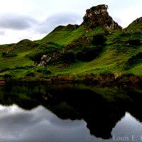 'Castle Ewen' above the Loch in Fairy Glen