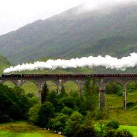 Jacobite (aka the Hogwarts Train) at the Glenfinnan Viaduct.