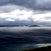 The sea off of Skye with the islands of South Rona and Raasay.