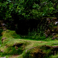 Abandoned crofting house in Fairy Glen