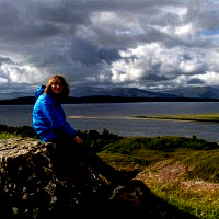 Emma on the hill above Connel and Loch Etive