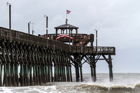 Cherry Grove Pier in North Myrtle Beach during Hurricane Arthur.